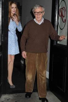 """6. Mai 2012: Was Lindsay Lohan und Woody Allen bei ihrem gemeinsamen Abendessen im """"Phillippe Restaurant"""" wohl besprochen haben?"""