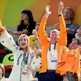 15. August 2016  Die niederländische Turnerin Sanne Wevers holt Gold im Schwebebalken und Königin Máxima und König Willem-Alexander sind ganz aus dem Häuschen.