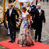 15. September 2015: König Willem-Alexander und Königin Máxima machen sich auf den Weg in den Rittersaal in Den Haag, wo am heutigen Dienstag, dem Prinsjesdag, das Sitzungsjahr des niederländischen Parlaments eröffnet wird.