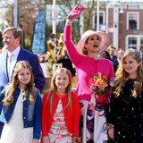 27. April 2016  Die Niederländer feiern den 49. Geburtstag von König Willem-Alexander. Am Königstag zeigt sich das Königspaar mit seinen drei Töchtern.