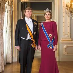 Das erste offzielle Foto des neuen Königs und der Königin der Niederlande.