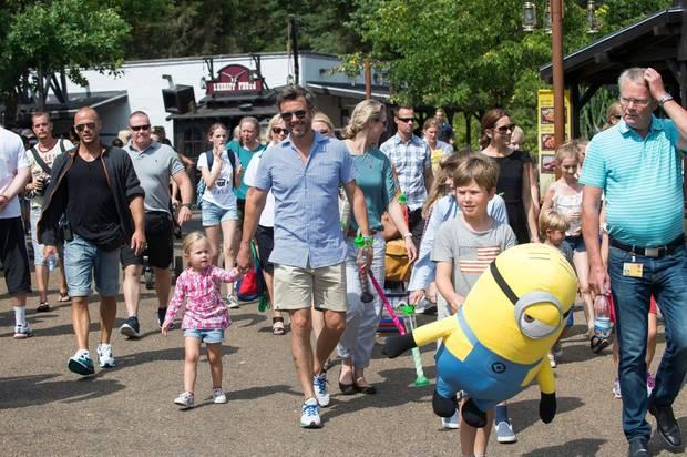 Die dänische Kronprinzenfamilie macht einen Ausflug ins Legoland nach Billund.