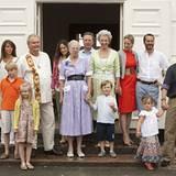 28. Juli 2010: Die dänische Großfamilie um Königin Margrethe trifft sich auf Schloss Gråsten zum Fototermin.