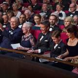 8. April 2015   In der Loge sitzen, neben Königin Margrethe und Prinz Henrik, ihre Söhne Joachim und Frederik mit ihren Frauen und Kindern.