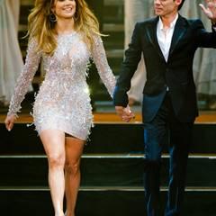 """26. Mai 2012: Jennifer Lopez und Marc Anthony zeigen sich gemeinsam auf der Bühne der Casting-Show """"The Chosen"""" in Las Vegas."""