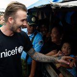 David Beckham besucht die Fluftopfer auf den Philippinen.