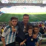 13. Juli 2014  David Beckham besucht mit seinen Jungs Brooklyn, Cruz und Romeo das WM-Finale Deutschland gegen Argentinien in Rio de Janeiro.