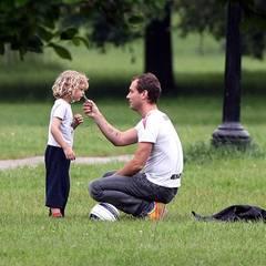 6. Juni 2008: Zusammen mit Rudy gibt es einen Vater-Sohn-Tag in London