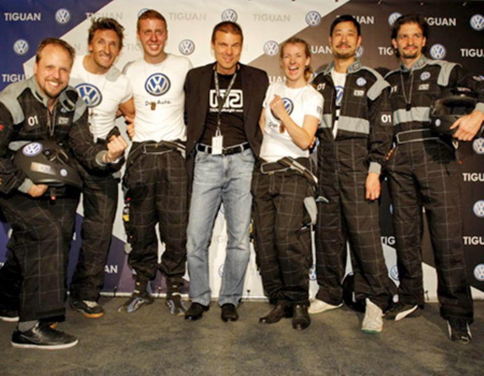 Bei einem Rennen gibt es am Ende natürlich auch ein Siegerteam. Dieses bestand in Köln aus Smudo, Mark Keller, Darius Röhling, K