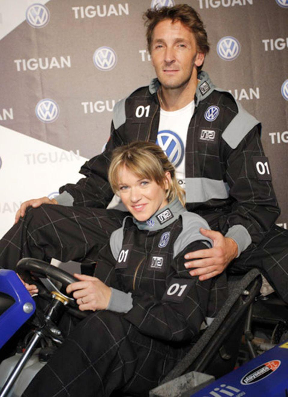 Sie gehörten später sogar zum Siegerteam: Kerstin Landsmann und Mark Keller