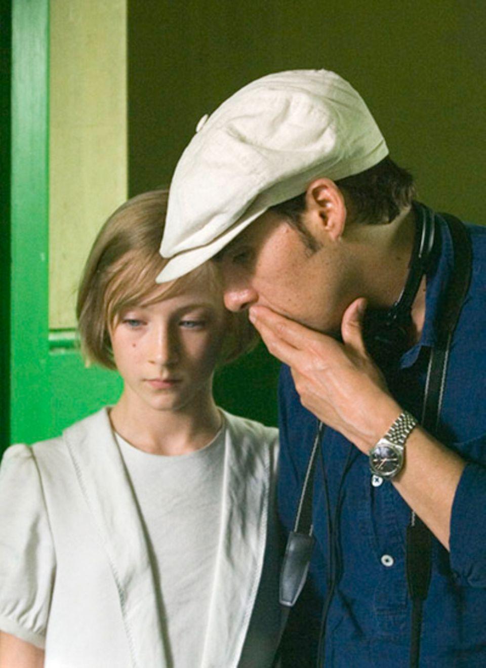 Letzte Anweisungen für Saoirse Ronan, Darstellerin der jugendlichen Briony, von Regisseur Joe Wright