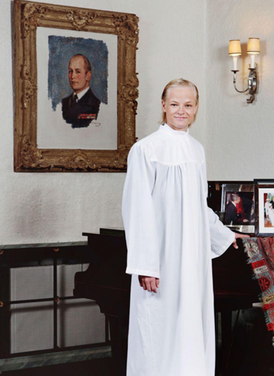 2. September 2012: Der königliche Palast veröffentlicht dieses offizielle Fotot des Konfirmanden Marius Borg Høiby.