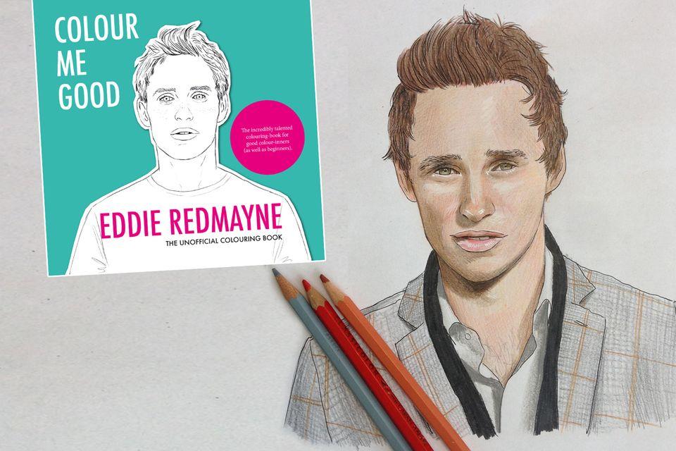 Um den Oscar-Gewinner Eddie Redmayne geht's in diesem Malbuch für Erwachsene. Fans können jetzt sich ihren Star selbst ausmalen.
