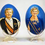 König Willem-Alexander und Königin Máxima mal anders: Das holländische Königspaar ziert handbemalte Frühstückseier.