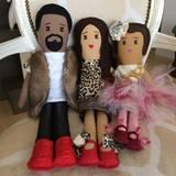 Kim Kardashian, Kanye West und North West gibt es jetzt auch als Puppen.