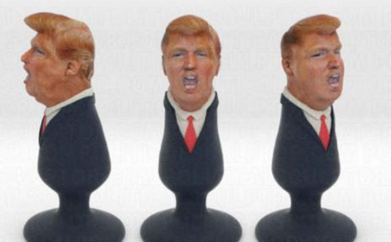 Donald Trump mal anders. Der mexikanische Künstler Fernando Sosa designte diesen zauberhaften Analstöpsel - nicht ganz ohne politischen Hintergrund.