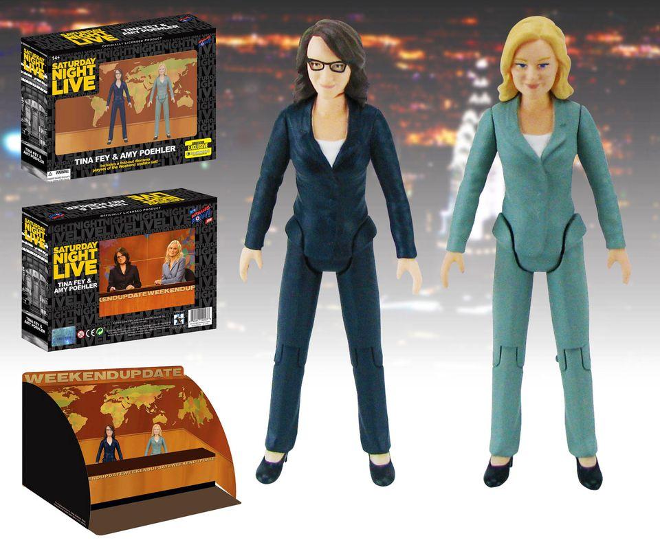 Tina Fey und Amy Poehler gibt es jetzt als Actionfiguren mit Comedy-Effekt.