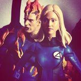 """Chris Evans und Jessica Alba gibt es - sehr zur Freude der Schauspielerin - als """"Fantastic Four""""-Aktionfiguren."""