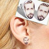 Wer Ryan Gosling immer dabei haben möchte, kann auf diese Ohrstecker zurückgreifen. Vielleicht flüstert er einem dann auch Nettigkeiten ins Ohr.