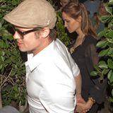 28. Juni 2014: Brad Pitt und Angelina Jolie verlassen durch einen Seiteneingang ein Restaurant in Hollywood. Das Paar hat sich einen Abend ohne Kinder gegönnt.