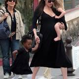"""12. Mai 2008: """"Was Mami hat, wollen wir auch!"""" Zahara, Angelina und Shiloh im Partnerlook"""