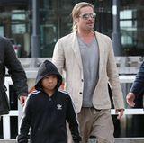 9. Juni 2013  Brad Pitt und Pax verbringen den Nachmittag zusammen in Sydney. Die beiden starten zu einer Bootstour durch den Hafen.