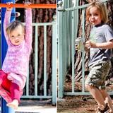 27. Oktober 2012: Vivienne und Knox verbringen mit ihren Kindermädchen ein paar Stunden auf dem Spielplatz.