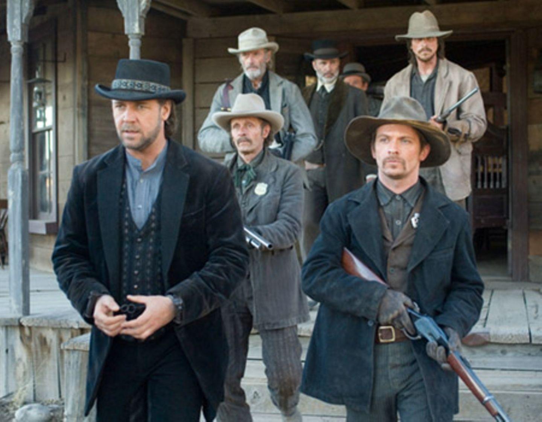 Ben Wade (Russell Crowe) wird aus dem Salon geleitet