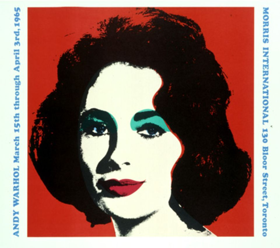 Pop Art ist an sich schon Kult: Andy Warhols Portrait von Elizabeth Taylor hat noch den zusätzlichen Star-Faktor