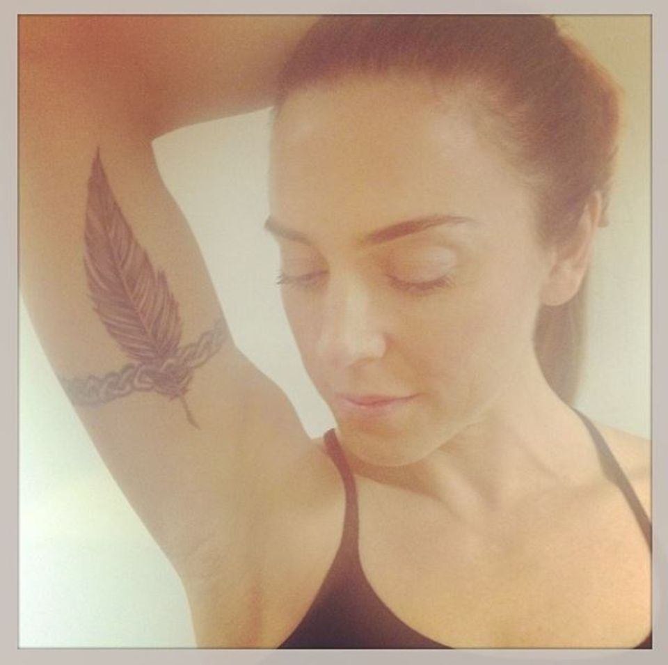 Mel C präsentiert auf ihrem Instagramprofil ihr neues Tattoo.