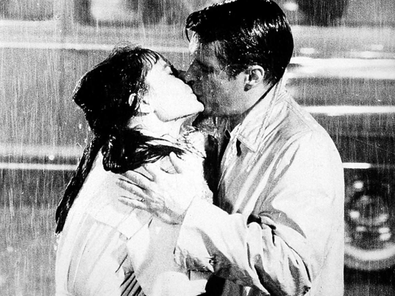 """George Peppard und Audrey Hepburn in """"Frühstück bei Tiffany's"""", 1961"""