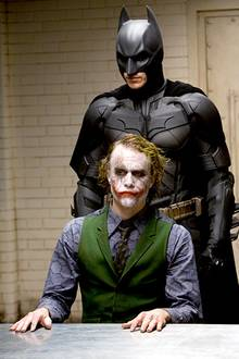 Batman und Joker, Christian Bale und Heath Ledger