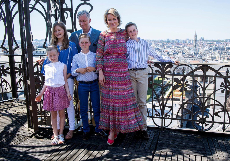 19. Juli 2016  König Philippe, Königin Mathilde, Prinzessin Eléonore, Prinz Emmanuel, Prinz Gabriel und Prinzessin Elisabeth machen Ferien und besuchen das Musikinstrumenten Museum in Brüssel.