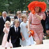 21. Juli 2014  Am belgischen Nationalfeiertag nehmen Königin Mathilde und König Philippe mit ihren Kindern Prinzessin Eleonore, Prinz Emmanuel, Prinz Gabriel und Kronprinzessin Elisabeth an einem Gottesdienst in der Sainte-Gudule Kathedrale in Brüssel teil.