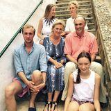 5. August 2015  Prinzessin Astrid, Schwester von König Philippe, und ihr Mann Erbherzog Lorenz Habsburg-Lothringen genießen den Sommerurlaub mit ihren Kindern Prinz Joachim, Prinzessin Maria Laura, Prinzessin Luisa Maria und Prinzessin Laetitia Maria in Italien. Der älteste Sohn, Prinz Amedeo, ist nicht dabei.