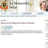 """5. Dezember 2014: Auf der offiziellen Webseite des Königshauses wird der Tod von Königin Fabiola bekannt gegeben. """"Ihre Majestäten der König und die Königin und die Mitglieder der königlichen Familie geben mit großer Trauer den Tod von Königin Fabiola bekannt, die an diesem Abend auf Schloss Stuyvenberg in Brüssel gestorben ist."""" Sie wurde 86 Jahre alt."""
