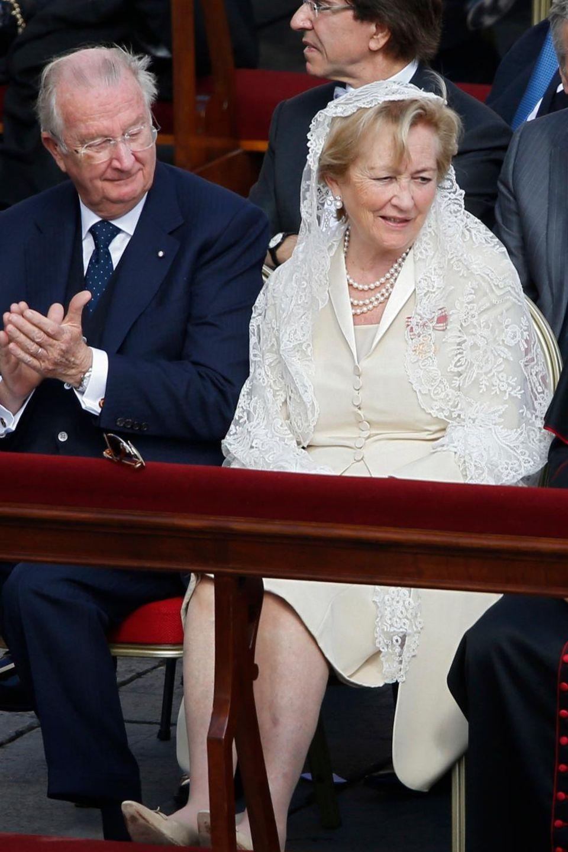 19. März 2013: König Albert und Königin Paola sind im Vatikan und erleben, wie Papst Franziskus ins Amt eingeführt wird.