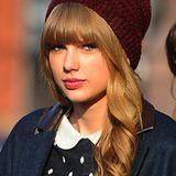 Auch der schöne Kopf von Taylor Swift will bei niedrigen Temperaturen geschützt sein.