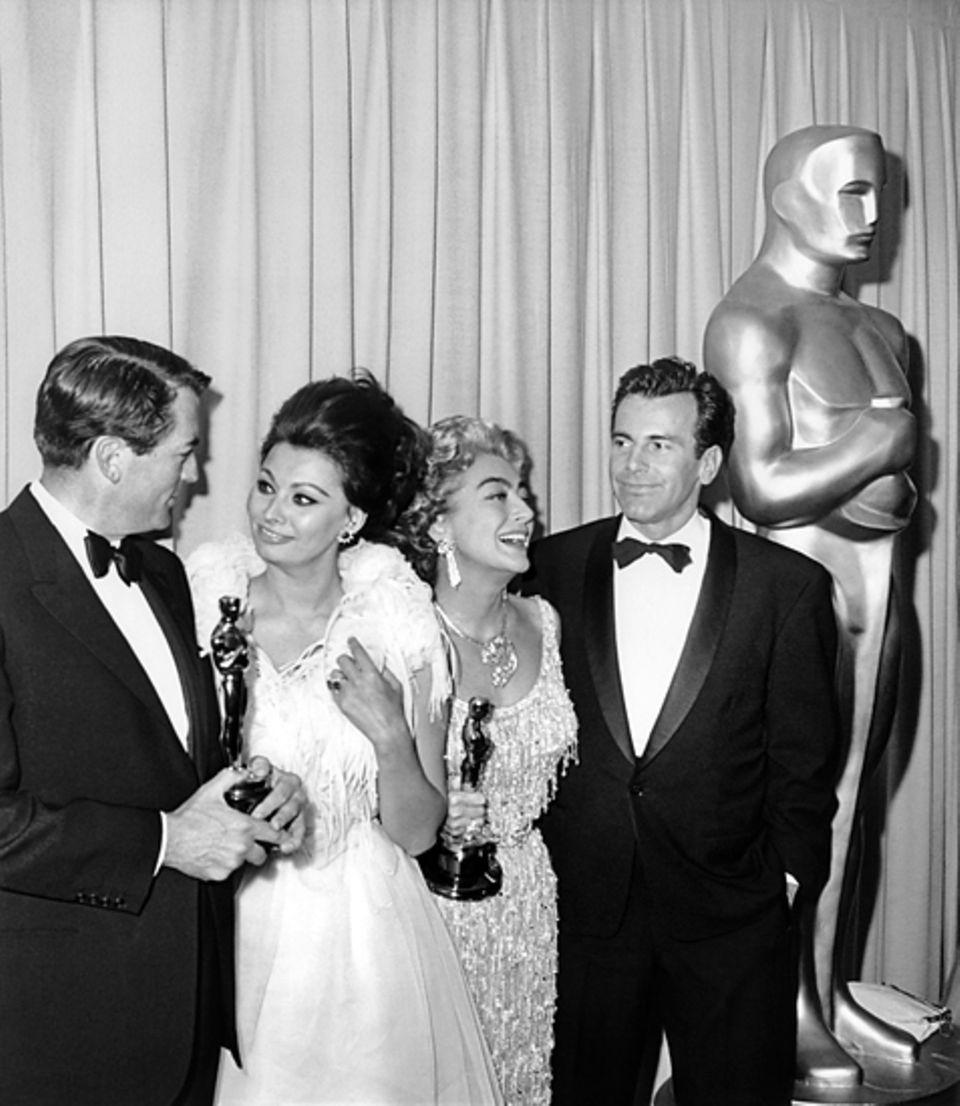 1961: Gregory Peck, Sophia Loren, Joan Crawford, Maximilian Schell