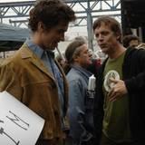 Christian Bale und Todd Haynes am Set
