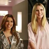"""Mit Eva Longoria grinst Heidi Klum 2010 bei den """"Desperate Housewives"""" um die Wette."""