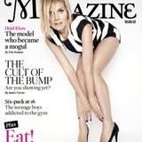 Mai 2013  Heidi Klum schmückt das Cover des London Times Magazine. Abgelichtet wurde sie dafür von dem renommierten Mode-Fotografen Rankin.