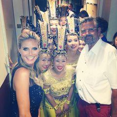 """Papa Klum besucht seine Tochter Heidi Klum Backstage bei """"America's Got Talent""""."""