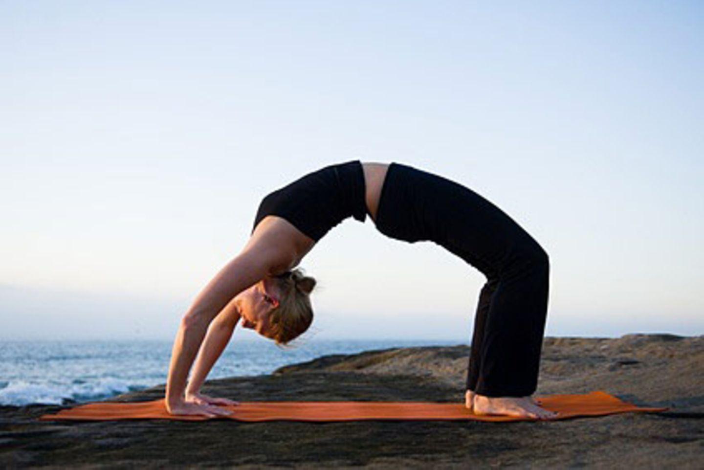 Sieht gefährlich aus, ist aber gut für die Spann- und Dehnkraft des Körpers