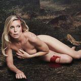 """Maja Prinzessin von Hohenzollern posiert nackt für Peta, unter dem Slogan """"Jagt ist Tiermord""""."""