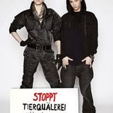 """Bill und Tom Kaulitz von der Band """"Tokio Hotel"""" unterstützen die Kampagnge der Tierrechtsorganisation Peta, die sich gegen Masse"""