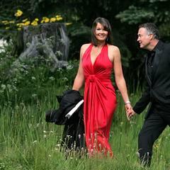 2009: Auf zum Altar, aber zu dem von Boris Becker und seiner Lilly: Franziska van Almsick und Jürgen Harder nehmen als Hochzeits