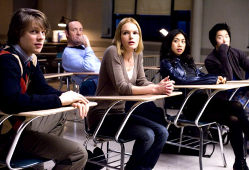 """Die ursprünglichen Mitglieder der """"Black Jack""""-Teams: Fisher (Jacob Pitts), Mickey (Kevin Spacey), Jill (Kate Bosworth), Kianna"""
