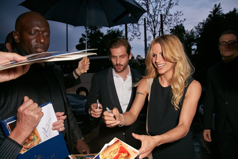 """Michelle Hunziker und Tomaso Trussardi kommen zu den """"Vienna Awards for Fashion & Lifestyle"""" im Museum für angewandte Kunst in Wien."""