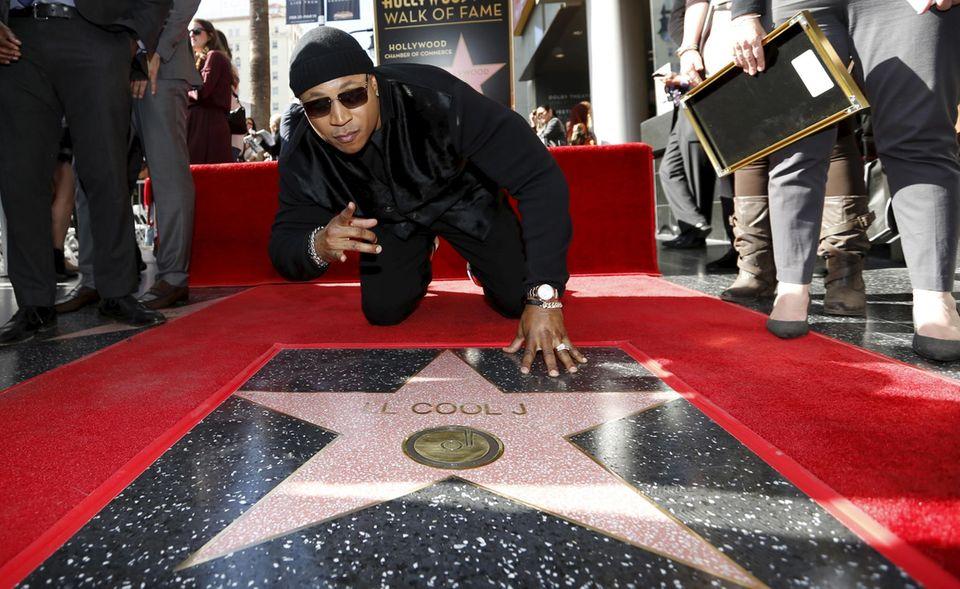 21. Januar 2016: Hip Hop auf dem Walk of Fame: LL Cool J präsentiert seinen Stern.